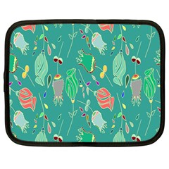 Floral Elegant Background Netbook Case (Large)