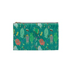 Floral Elegant Background Cosmetic Bag (Small)