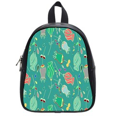 Floral Elegant Background School Bags (Small)