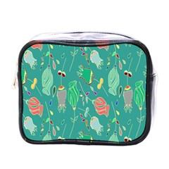 Floral Elegant Background Mini Toiletries Bags