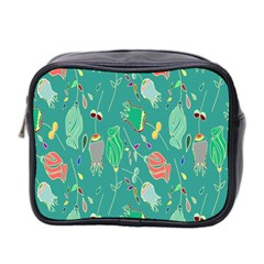 Floral Elegant Background Mini Toiletries Bag 2-Side
