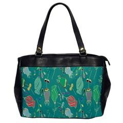 Floral Elegant Background Office Handbags