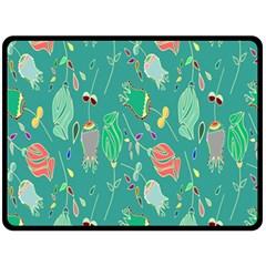Floral Elegant Background Fleece Blanket (Large)