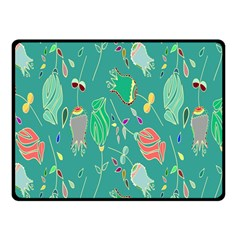 Floral Elegant Background Fleece Blanket (Small)