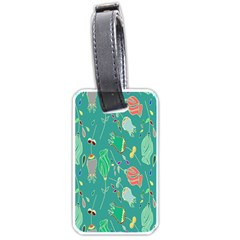 Floral Elegant Background Luggage Tags (One Side)
