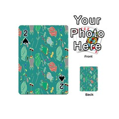 Floral Elegant Background Playing Cards 54 (Mini)