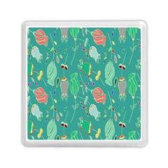 Floral Elegant Background Memory Card Reader (Square)