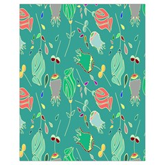 Floral Elegant Background Drawstring Bag (Small)