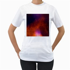 Fire Radio Spark Fire Geiss Women s T-Shirt (White) (Two Sided)