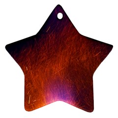 Fire Radio Spark Fire Geiss Star Ornament (two Sides)