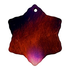 Fire Radio Spark Fire Geiss Snowflake Ornament (Two Sides)
