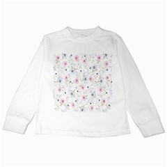 Floral Pattern Background  Kids Long Sleeve T Shirts