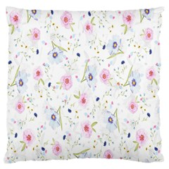 Floral Pattern Background  Standard Flano Cushion Case (One Side)