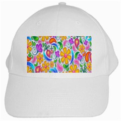 Floral Paisley Background Flower White Cap