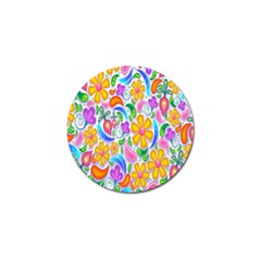 Floral Paisley Background Flower Golf Ball Marker (4 pack)