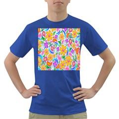 Floral Paisley Background Flower Dark T-Shirt