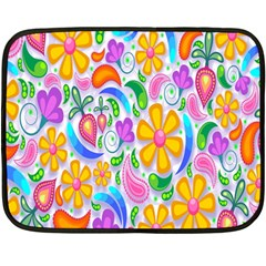 Floral Paisley Background Flower Double Sided Fleece Blanket (Mini)
