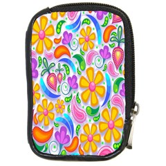 Floral Paisley Background Flower Compact Camera Cases