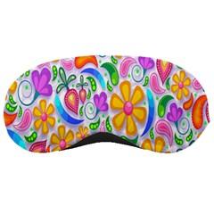 Floral Paisley Background Flower Sleeping Masks