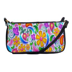 Floral Paisley Background Flower Shoulder Clutch Bags