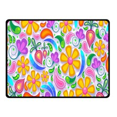Floral Paisley Background Flower Fleece Blanket (Small)