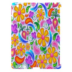 Floral Paisley Background Flower Apple iPad 3/4 Hardshell Case (Compatible with Smart Cover)