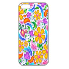Floral Paisley Background Flower Apple Seamless iPhone 5 Case (Clear)