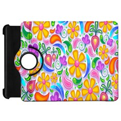 Floral Paisley Background Flower Kindle Fire HD 7