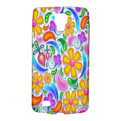 Floral Paisley Background Flower Galaxy S4 Active