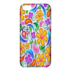 Floral Paisley Background Flower Apple iPhone 5C Hardshell Case