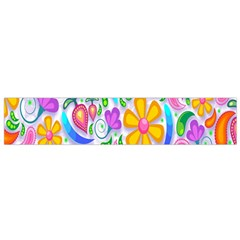 Floral Paisley Background Flower Flano Scarf (small)