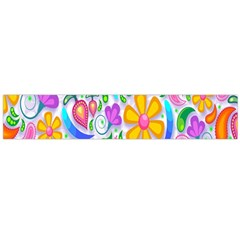 Floral Paisley Background Flower Flano Scarf (large)