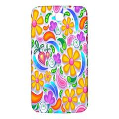 Floral Paisley Background Flower Samsung Galaxy Mega I9200 Hardshell Back Case