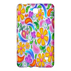 Floral Paisley Background Flower Samsung Galaxy Tab 4 (7 ) Hardshell Case