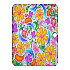 Floral Paisley Background Flower Samsung Galaxy Tab 4 (10.1 ) Hardshell Case