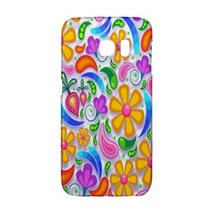 Floral Paisley Background Flower Galaxy S6 Edge