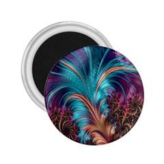 Feather Fractal Artistic Design 2 25  Magnets