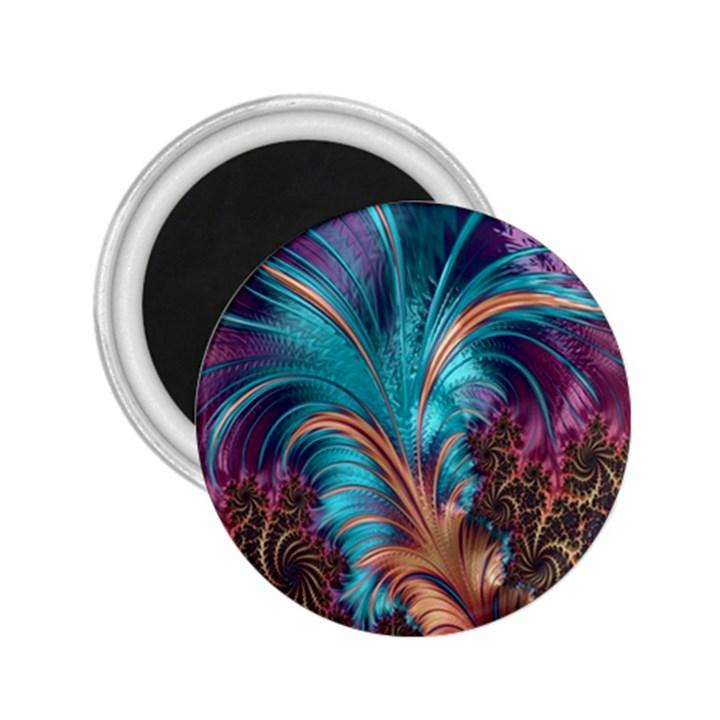 Feather Fractal Artistic Design 2.25  Magnets
