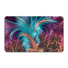 Feather Fractal Artistic Design Magnet (Rectangular)