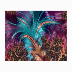 Feather Fractal Artistic Design Small Glasses Cloth