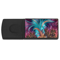 Feather Fractal Artistic Design USB Flash Drive Rectangular (4 GB)