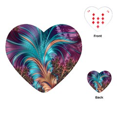 Feather Fractal Artistic Design Playing Cards (Heart)