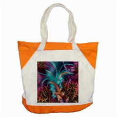 Feather Fractal Artistic Design Accent Tote Bag
