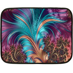 Feather Fractal Artistic Design Double Sided Fleece Blanket (mini)