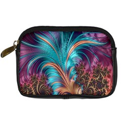 Feather Fractal Artistic Design Digital Camera Cases
