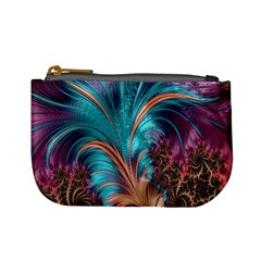 Feather Fractal Artistic Design Mini Coin Purses