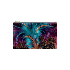 Feather Fractal Artistic Design Cosmetic Bag (Small)