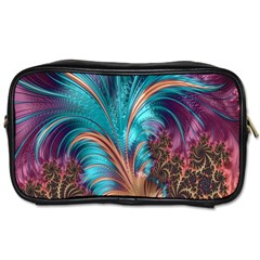 Feather Fractal Artistic Design Toiletries Bags 2-Side