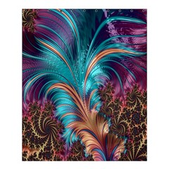Feather Fractal Artistic Design Shower Curtain 60  x 72  (Medium)