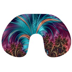 Feather Fractal Artistic Design Travel Neck Pillows